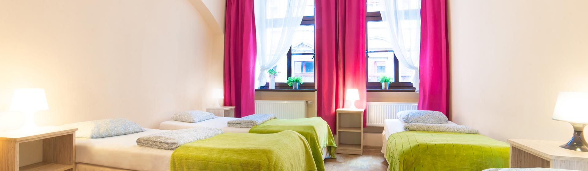 pokój 4 osobowy szewska greenhostel